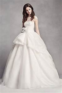 white by vera wang wedding dresses gowns david39s bridal With white by vera wang short sleeve lace wedding dress