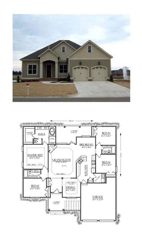 Traditional Style House Plan 74736 with 4 Bed 3 Bath 2