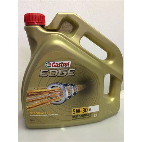castrol edge motorenöl 5w 30 5l castrol edge titanium fst 5w 30 ll 5l oleje aditiva cz