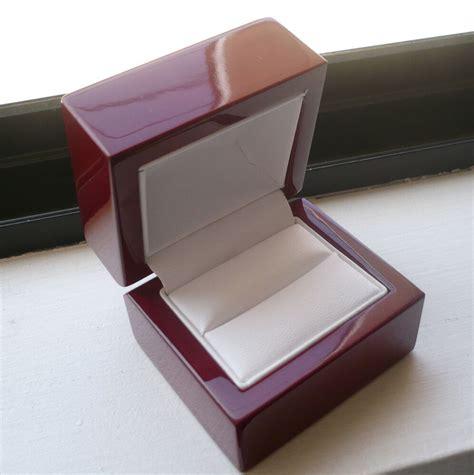 mens wedding ring box s s cherry ring box for engagement or wedding ring white ebay