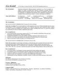 resume writing sles for accountant free tax accountant resume exle