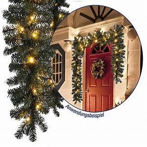 Girlande Weihnachten Beleuchtet : led tannengirlande 270cm mit 40 led weihnachten weihnachtsbeleuchtung ~ Frokenaadalensverden.com Haus und Dekorationen