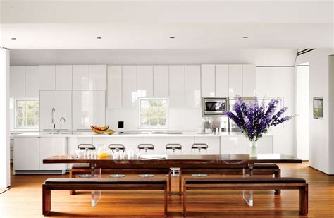 belles cuisines contemporaines cuisine blanche laquée 99 exemples modernes et élégants