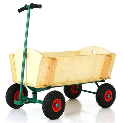 Chariot De Jardin En Bois 4 Roues Jardinage Chariots