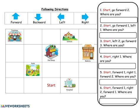 directions interactive worksheet