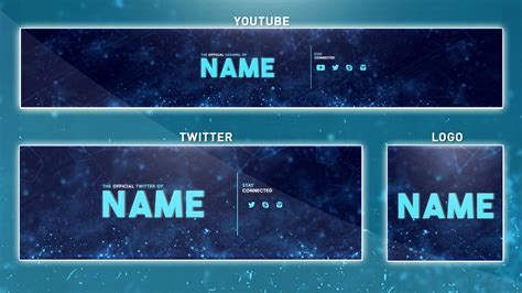 youtube banner template photoshop banner logo