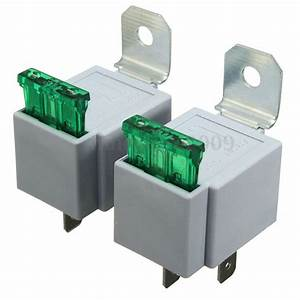 12v On  Off 4 Pin Relay 30a Fuse Base Box Holder Bracket