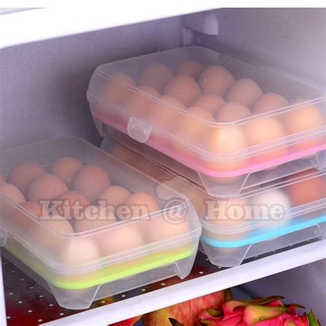 kitchen egg storage 15 grid portable egg tray refrigerator container 1595