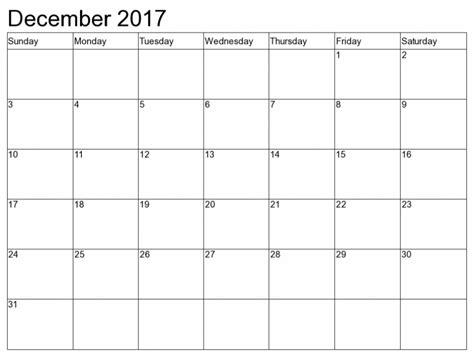 december calendar fillable