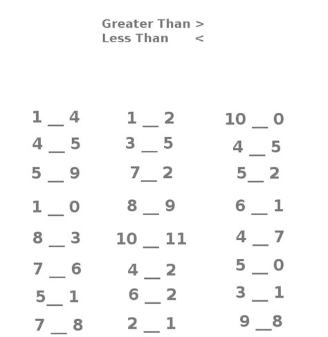 Clubhouse Academy Greater Than Less Than Easy Beginner Worksheet