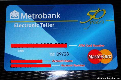 requirements  opening  atm account  metrobank