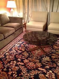 Tapis persan des idees sympas pour votre espace 24 photos for Tapis persan avec canapé cuir moderne design