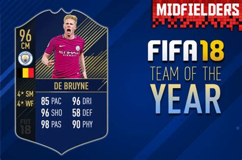 fifa  toty midfielders revealed  fut ultimate team
