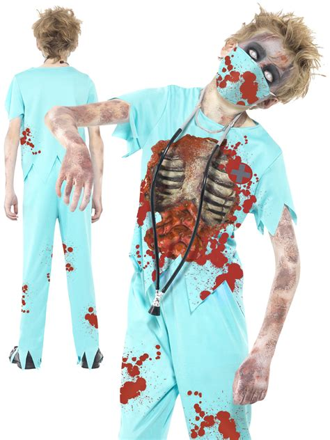 boys zombie surgeon costume  children fancy dress hub
