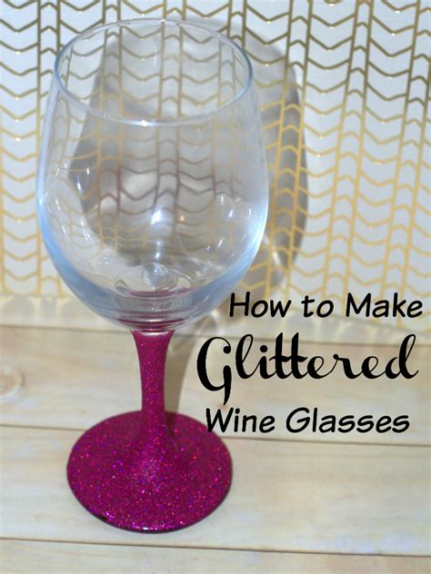 how to make glass l how to make glitter wine glasses womens daily