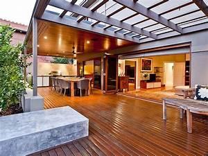 indoor outdoor outdoor living design with verandah With outdoor entertaining area lighting ideas