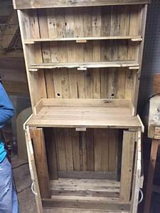 DIY Pallet Kitchen Hutch - 101 Pallet Ideas