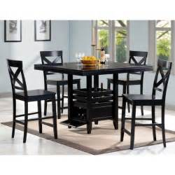 Counter Height Dining Room Table Sets Black Wood 5 Counter Height Dining Set 16408271 Overstock Shopping Big Discounts
