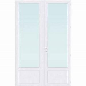 porte fenetre pvc 2v 140 x h215 cm tirant droit castorama With porte fenetre 140