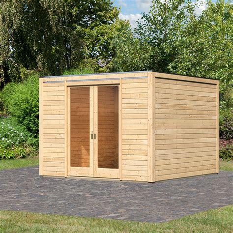 Karibu Gartenhaus Cubus Front, Naturfarben, 28 Mm Von