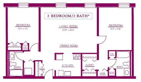 2 bed 2 bath floor plans residential apartments moravian square moravian