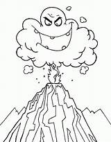 Volcano Eruption Coloring Drawing Ash Cloud Deadly Volcanoes Colouring Clipart Volcanos Emoticon Ghost Printable Netart Popular Again Bar Looking Case sketch template