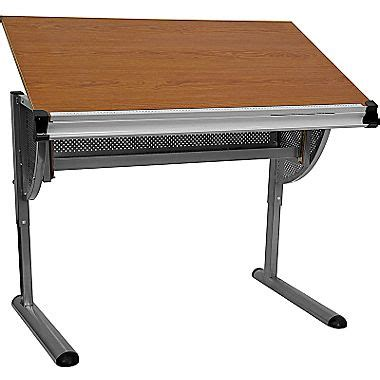 flash furniture adjustable drawing and drafting table with
