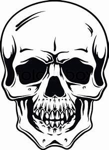 Cartoon Vector Skull Hand Drawn Eps8