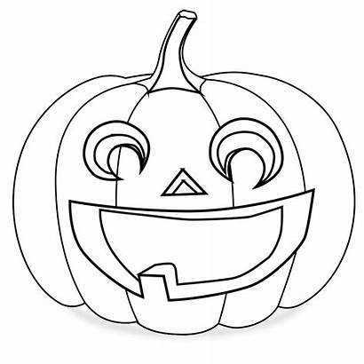 Pumpkin Coloring Clipart Lantern Jack Outline Drawing
