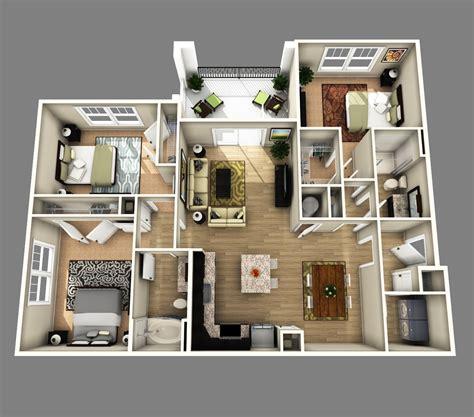 Desain Rumah Minimalis Modern 1 Lantai 3 Kamar 3d Brook