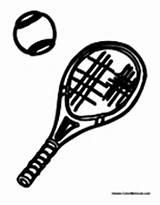 Tennis Racket Coloring Sports Ball Equipment Balls Sheets sketch template