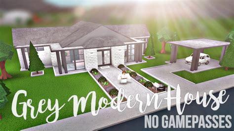 Bloxburg Grey Modern House (no Gamepasses) 42k Youtube