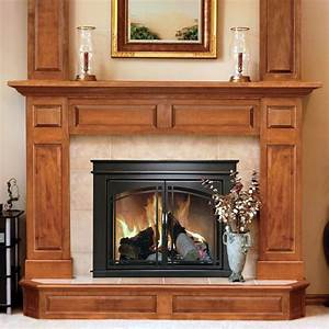 Pleasant, Hearth, Fenwick, Cabinet, Fireplace, Screen, And, Arch, Prairie, Smoked, Glass, Doors