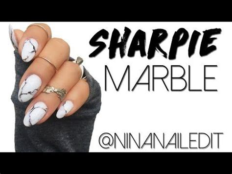 marble nails   sharpie marker youtube nails