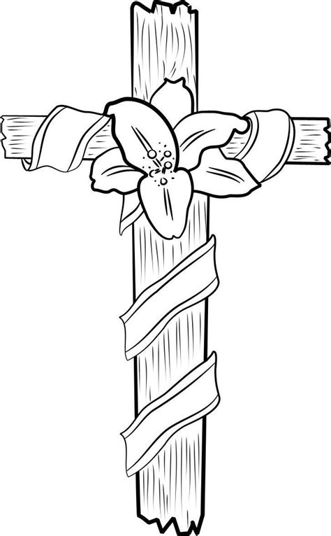 printable cross coloring pages  kids  printables alzheimersdementia activities