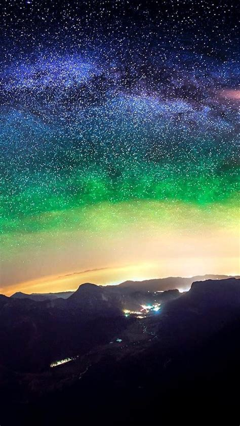 Milky Way Galaxies Night Sky Outer Space Wallpaper 85870