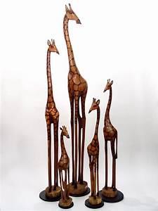 African Wooden Art Olivewood Giraffe Handmade wooden