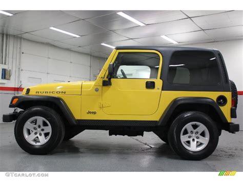 jeep yellow solar yellow 2004 jeep wrangler rubicon 4x4 exterior photo
