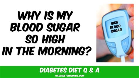 blood sugar  high   morning youtube