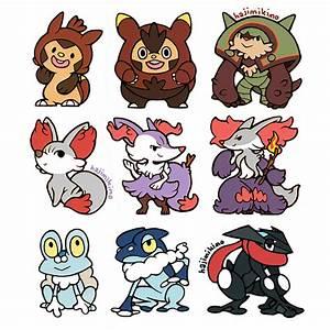 Shiny Gen 6 Pokemon Stickers · Nina Draws · Online Store ...