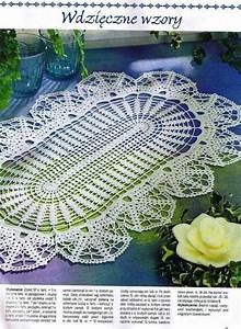 Oval Crochet Doily With Diagram
