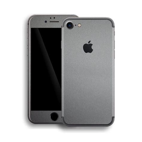 space grey iphone iphone 7 space grey matt skin wrap decal easyskinz 13007