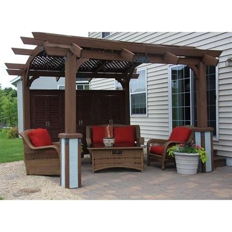 Outdoor Greatroom Company Sonoma 12' X 12' Arched Wood