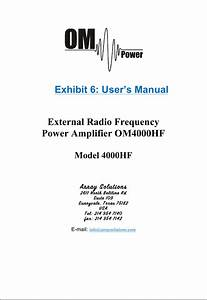 Array Solutions Array Solutions Om4000hf External Power