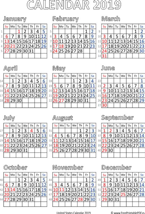 vector calendar united states printable