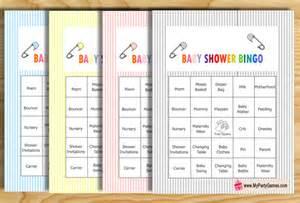 Free Printable Baby Shower Bingo Games