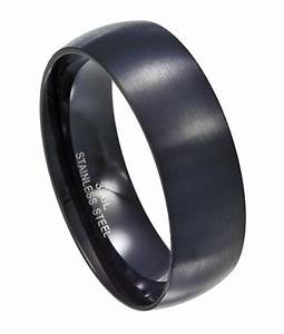 black stainless steel wedding band With black stainless steel wedding rings