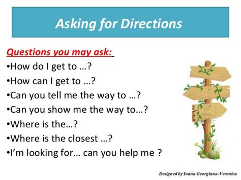 Asking Giving Directions
