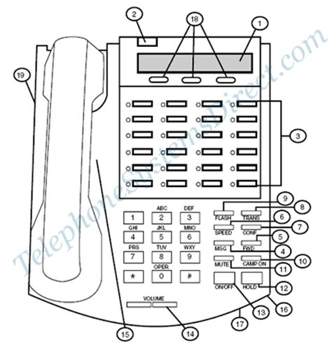 Diagram Of The Telephone by Vodavi 24 Button Digital Keyset Button Diagram Telephone