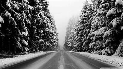 Winter Road Background Dual Monitor Desktop Wallpapers